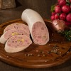 Grobe Leberwurst mit Trüffeln und Pistazien
