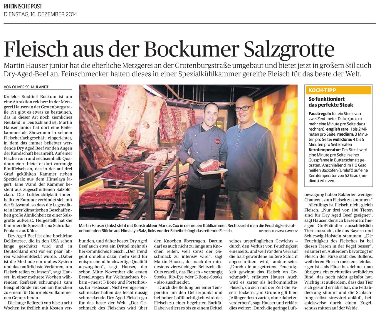 Neu Bei Hauser In Krefeld Dry Aged Beef Fleischerei Catering
